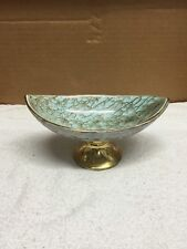 Delft Brass Footed Porcelain Dish