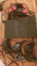 Sony PlayStation 2 Schwarz Spielekonsole mit Controllern