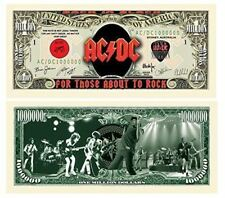 "Set of 5 AC/DC Million Dollar Bills with Bonus ""Thanks a Million"" Gift Card Set"