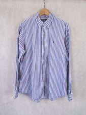 Polo Ralph Lauren Azul Y Blanca A Rayas camisa de mangas largas Talla XL