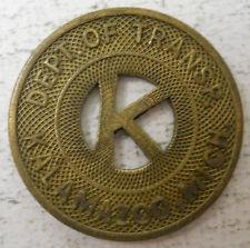 Kalamazoo Dept. of Transportation (Michigan) transit token - Mi530M