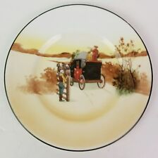 """Antique Royal Doulton Coaching E3804 pattern 7"""" bread plate huntsman with horn"""