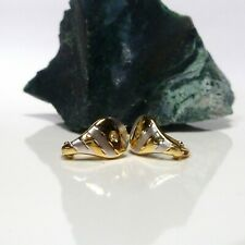 585/14k Gelbgold Gold Ohrringe Creolen Ohrschmuck mit Diamanten