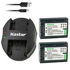 Kastar Battery + Charger for Sony NP-FH50 NP-FH40 ALPHA A230 A290 A330 A380 A390