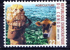 Congo 2001 MNH, Millennium, Agriculture, Cow, Domestic Animals (P8)