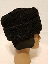 Vintage Curly Lambswool w/ Ear Flaps Men's Hat - sz Xs