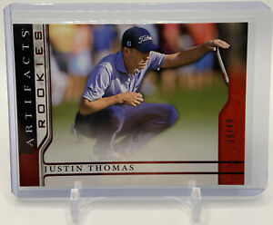 2021 Upper Deck Artifacts Golf Rookies JUSTIN THOMAS RC /49 SP Red Rookie Card