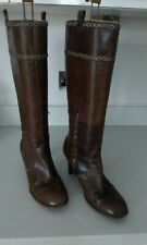 Clark's Ladies Brown Leather Knee High Boots Size 7