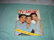 TV SHOW MAGAZINE, MARCH 1954, McGUIRE SISTERS, GUY MADISON, STELLA STEPHENS