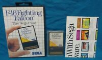 F-16 Fighting Falcon - SEGA SMS Master System Rare Game Works Complete Authentic
