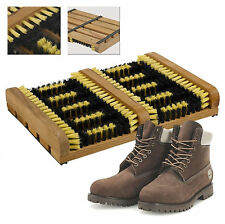 Heavy duty double shoe boot scraper brosse extérieur porte tapis wellington cleaner