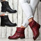 NUEVO Designer Zapatos Mujer Botas Botines con hebillas Forrado Negro