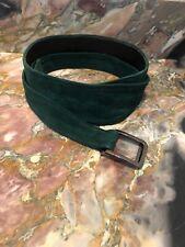 YSL YVES SAINT LAURENT Double-Layer Green Suede Wrap Belt