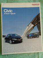 Honda Civic 5 Door & Type S range brochure Mar 2010 Irish market