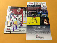 Carey Price Signed Montreal Canadiens Card COA
