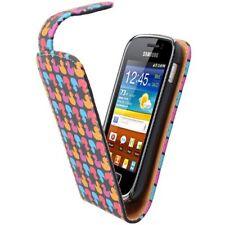 Flip Handy Tasche Samsung Galaxy S6500 Mini 2 Ente Etui Schutz Hülle Case Cover