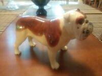 """VTG Ceramic Beswick Basford British Mascot Bulldog Dog Figurine Statue 5.5"""" X 8"""""""