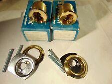New listing 2 Medeco Rim Locks Brigth Brass No Core And Best Core Fits Locksmith