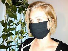 Quality Handmade Face Mask - Cotton - Surgical Style - Black - Men - Women