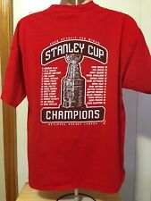 VINTAGE 2008 DETROIT RED WINGS STANLEY CUP CHAMPIONS T SHIRT XL