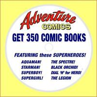 Lot of 350 Adventure Comics Comic Books on one DVD, Golden Age Superhero Comics