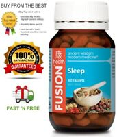 FUSION HEALTH SLEEP 60T EXPERIENCE QUALITY SLEEP RELIEVE INSOMNIA + FREE POST