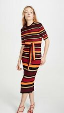 Victoria Victoria Beckham Fitted Striped Dress