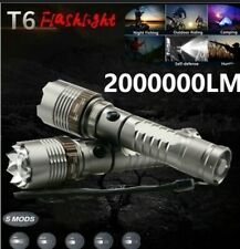 TORCIA TATTICA MILITARE 8000 LUMEN XML-T6 LED CON BATT. RICARICABILE 30.000 mAh