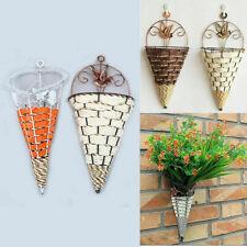 Creative Hanging Plant Flower Pot Cone Planter Basket Vase for Home Yard Decor