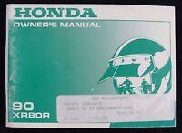 GENUINE 1990 HONDA 80 XR80R MOTORCYCLE OPERATORS MANUAL VERY GOOD