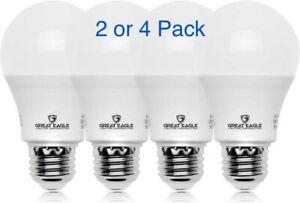 Great Eagle 40/60/100W Equivalent A19 3-Way LED Bulb: 2700K/3000K/5000K (2or4Pk)