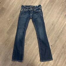 Miss Me Bootcut Jeans Women's Size 28 Embellished Angel Wings Flap Pockets Denim