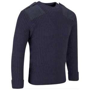 Royal Navy Blue Wool Pullover Jumper Crew Neck Genuine Military Surplus Grade 1