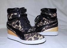 MIHARA YASUHIRO Contact PUMA Patent Leather Cheetah Heel Booties-Size 6.5M-Great