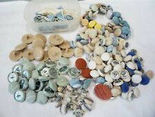 Huge Lot of Misc Vintage Upholstery Shank Buttons Fabric Covered Metal & Plastic