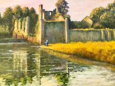 Vintage Oil Painting By John Mackay, Desmond Castle, Adare, Limerick