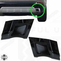 Rear bumper twin exhaust trim in Black for Discovery 5 HSE dynamic style insert
