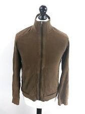 ARMANI EXCHANGE Mens Tracksuit Top Track Jacket S Small Brown Cotton