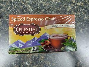 Celestial Seasonings Spiced Espresso Chai Tea, 20bags/bx