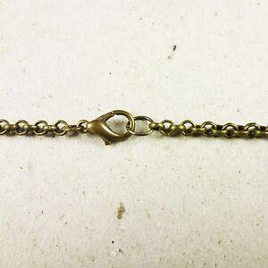 Antique Bronze 3mm Iron Rolo Assembled Chain Necklace Various Lengths