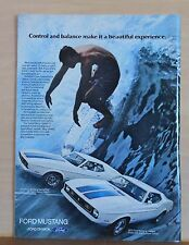 1972 magazine ad for Ford - Mustang Sportsroof, Mustang hardtop, Surfer