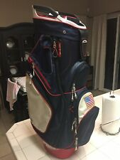 New listing Sun Mountain USA Cart Bag Red/white/navy blue