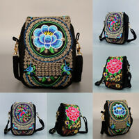 Women Embroidered Clutch Purse Small Messenger Shoulder Crossbody Bag Travel Hot