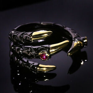 Fashion Men Cool Punk Dragon Rings Band Party Jewelry Vinking Ring Gift Size6-10