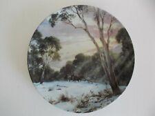 Vintage Bendigo Pottery Plate - Living Landscapes - Daybreak In The Alps