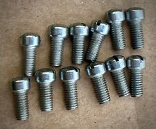 Vintage NOS British bicycle 1940s/1950s chrome screws x 12 Raleigh Rudge BSA etc