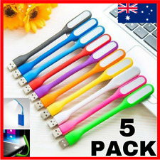 5 PACK Bendable and Flexible USB LED Light Lamp Keyboard Laptop Camping lights