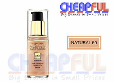 Max Factor Facefinity All Day Flawless 3 in 1 Foundation 30ml SPF 20 Natural 50
