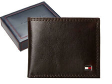 Tommy Hilfiger Men's Leather Wallet Billfold Chocolate 31TL13X051 New w/o Tags
