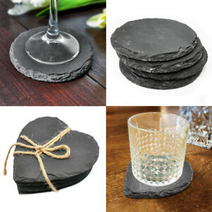 Rustic Slate Coasters Coffee Table Place Mats Drinks Coaster Placemats Wedding